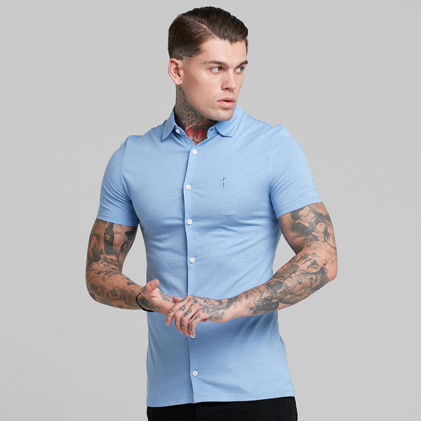 Father Sons Super Slim Baby Blue Jersey Short Sleeve - FSH015