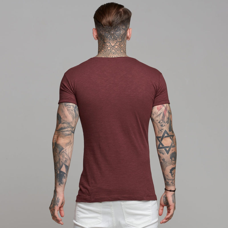 Father Sons Burgundy Slub Crew - FSH056