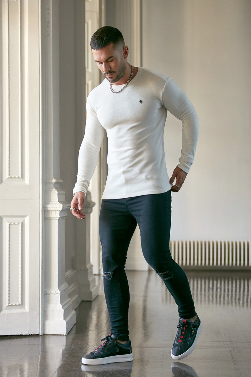 Father Sons Classic Cream Super Slim Jumper - FSH411