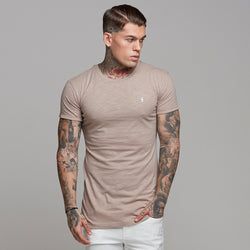 Father Sons Taupe Slub Crew - FSH261