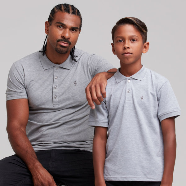 Father Sons Boys Classic Grey Polo Shirt - FSB018