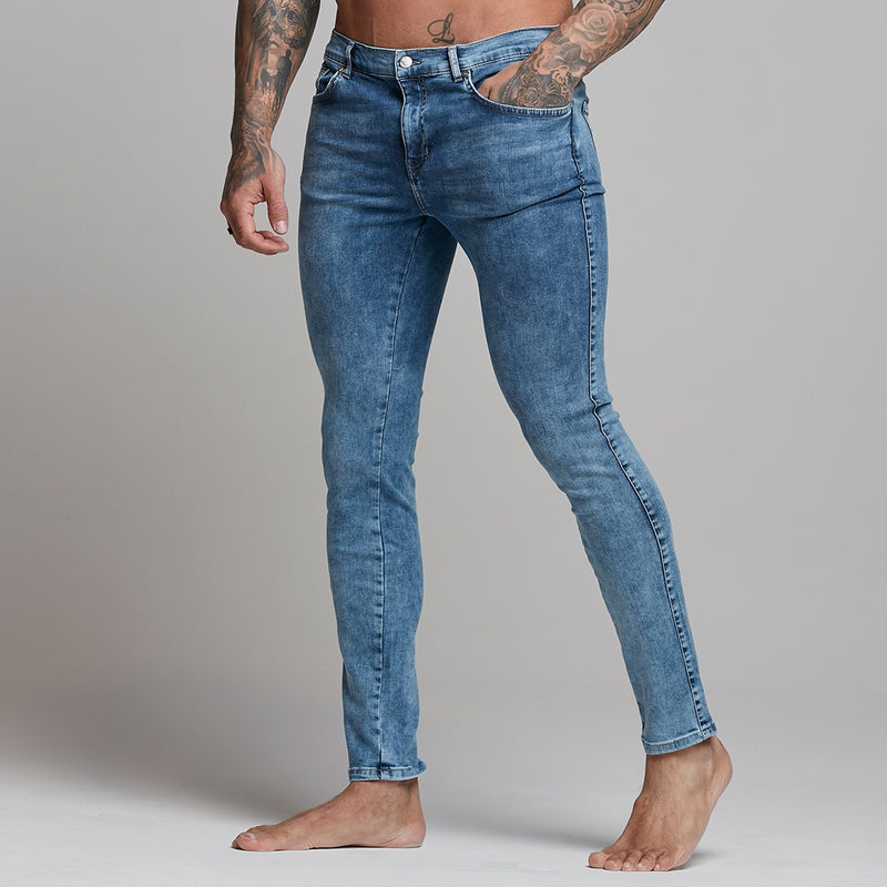 Father Sons Slim Stretch Blue Acid Wash Jeans - FSH306