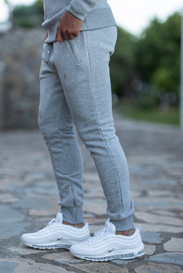 Father Sons Light Grey & Silver Tapered Bottoms with Ankle Zip Detail - FSH474