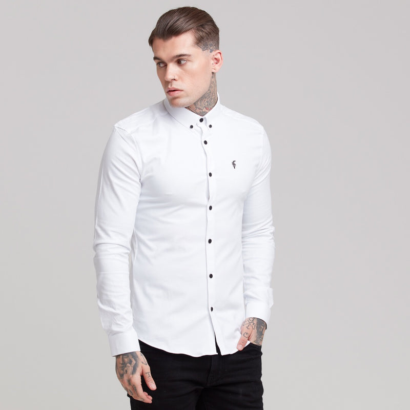 Father Sons Super Slim Stretch Classic Oxford White - FS300