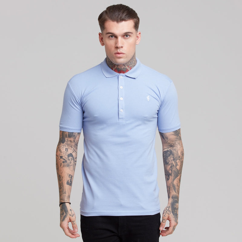 Father Sons Cornflower Blue Polo Shirt - FSH245