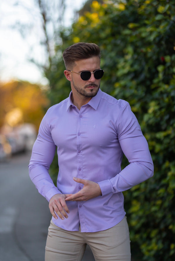 Father Sons Super Slim Luxe Ultra Stretch Classic Lavender Long Sleeve -  FS744