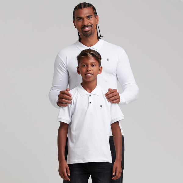 Father Sons Boys Classic White Polo Shirt - FSB021