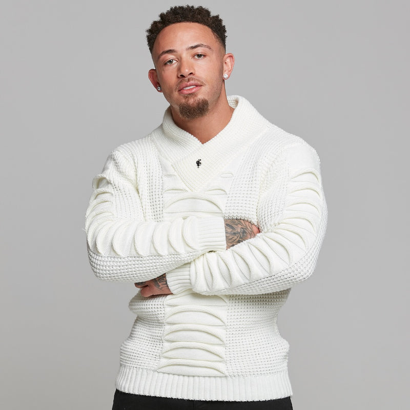 Father Sons Chunky Ripple Knit Cream Jumper - FSJ003