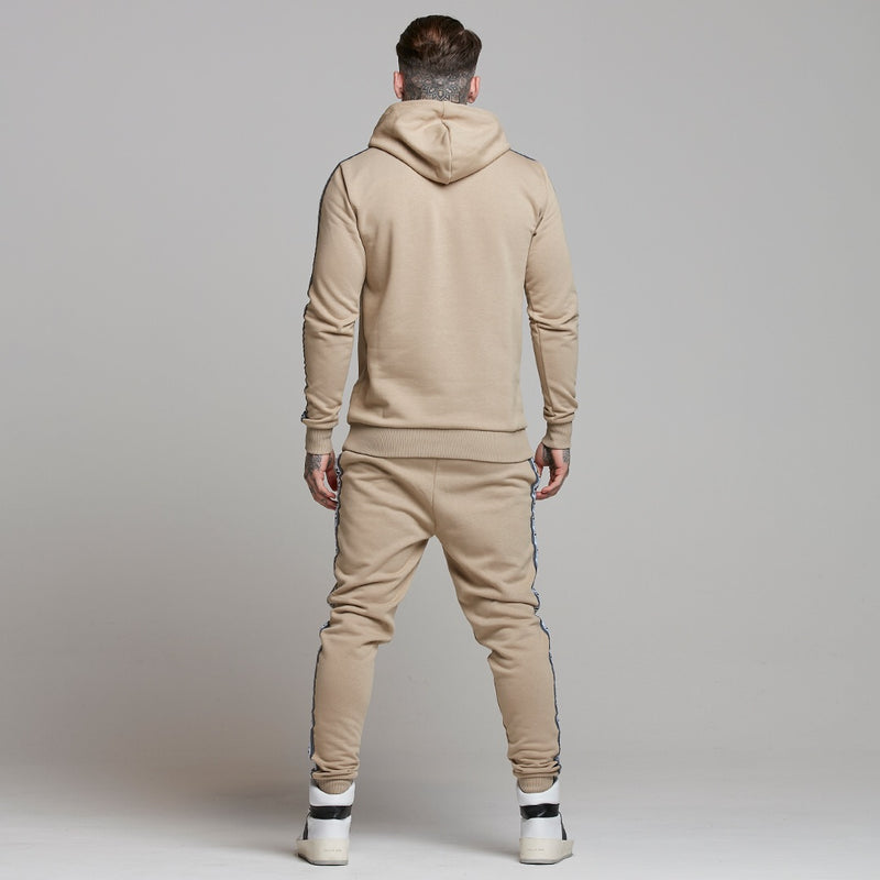 Father Sons Tapered Beige Hoodie Top - FSM007