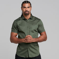 Father Sons Classic Khaki Luxe Egyptian Cotton Short Sleeve - FS376