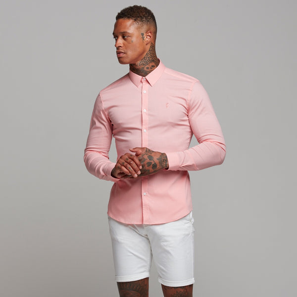Father Sons Super Slim Ultra Stretch Pink Long Sleeve - FS476 (PRE ORDER - 25TH JANUARY)