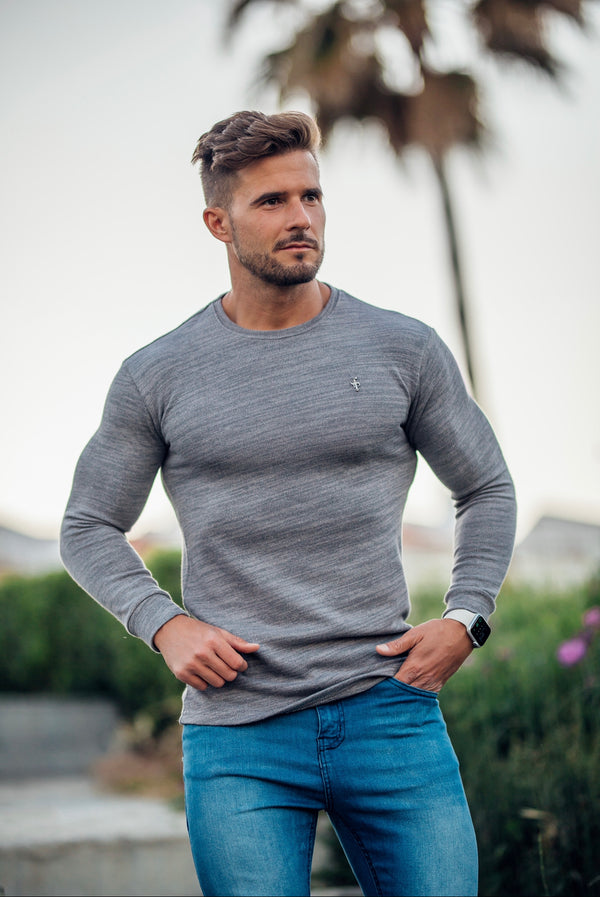 Father Sons Classic Grey Super Slim Jumper - FSH230