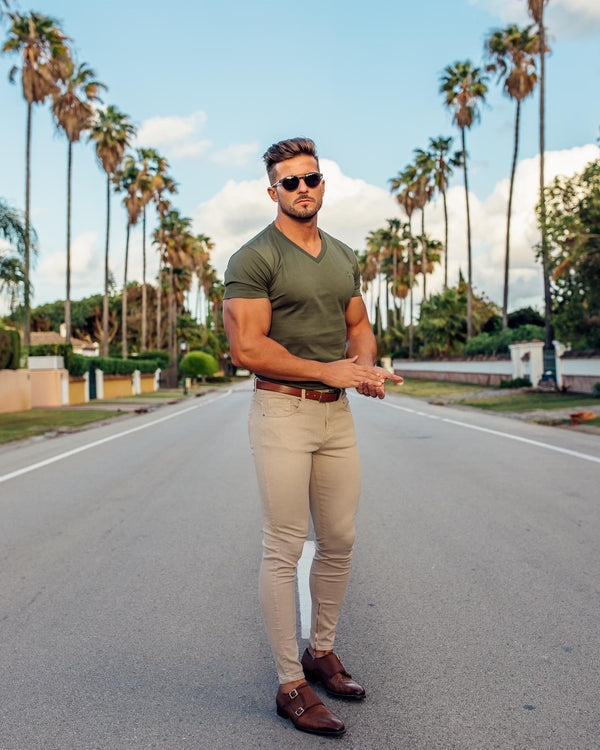 Father Sons Classic Khaki V Neck - FSH321