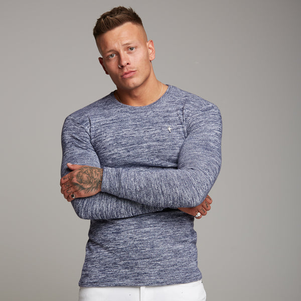 Father Sons Classic Blue/White Two Tone Super Slim Jumper - FSH155