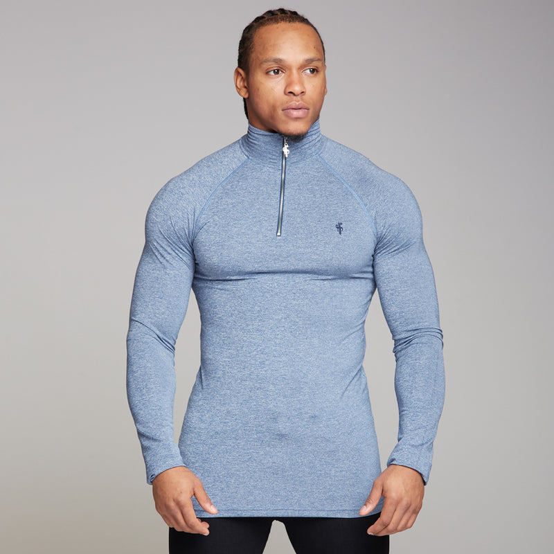Father Sons Long sleeve Navy zip gym top - FSH196