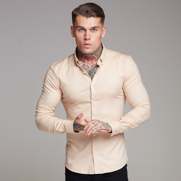 Father Sons Super Slim Stretch Classic Oxford Sand - FS358