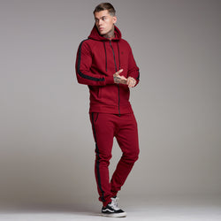 Father Sons Classic Oxblood Striped Raglan Hoodie - FSH207