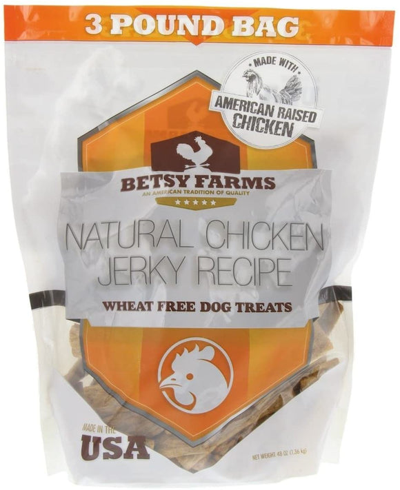 Betsy Farms Natural Chicken Jerky Recipe Wheat Free Dog Treats