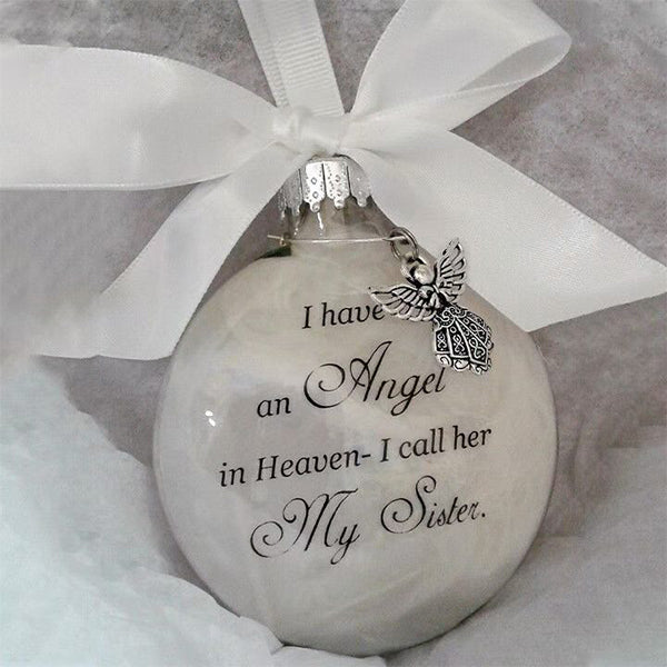 Commemorate ornaments feather ball - Angel In Heaven Memorial Ornament