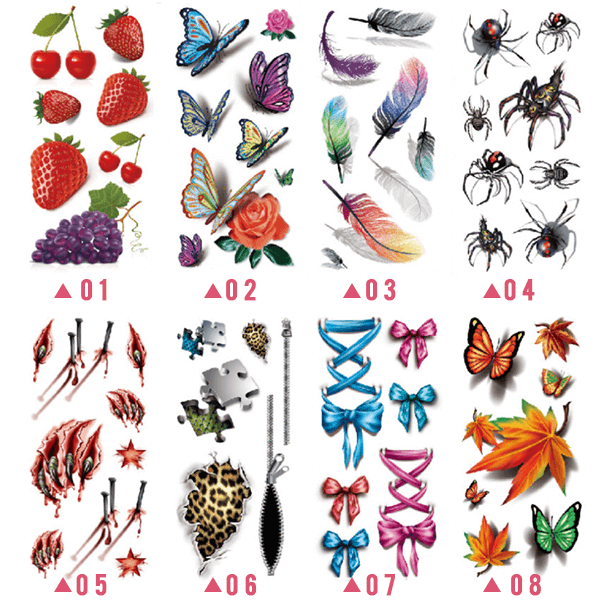 Trendy 3D Tattoo Stickers - Buy 3 get 2 free