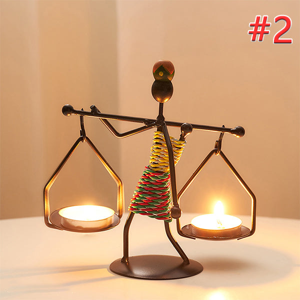 Candle Holder Vintage Iron Stand Handmade Home Decor Art Gift