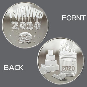 🔥ONLY $9.99 The Last Day🔥'I SURVIVED 2020' 999 Silver Commemoratives-Buy 4 Free Shipping