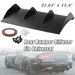 "Load image into Gallery viewer, 21"" x 12"" Rear Bumper 4 Fins Curved Diffuser Fin For Dodge Challenger ABS"