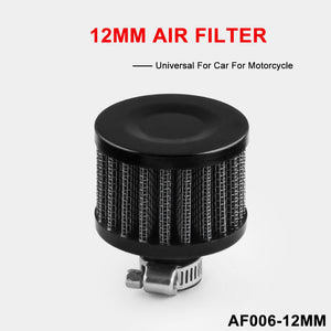 12MM Oil Cold Air Intake Filter Breather Crank Case Turbo Vent Universal