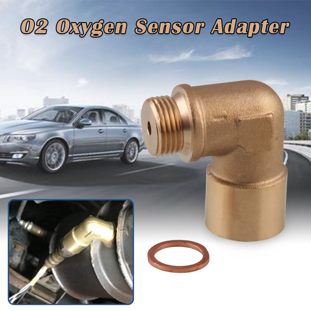 O2 Oxygen Sensor Adapter 90 Degree O2 Bung M18X1.5 Angled Extender Spacer
