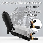 Load image into Gallery viewer, 5184294AE Engine Oil Cooler Filter Housing For 11-13 Jeep Dodge Chrysler 3.6L