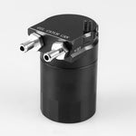 Load image into Gallery viewer, Oil Catch Can Kit Reservoir Tank Engine Black Polish Baffled Universal Aluminum