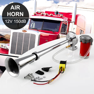 Air Horn 150db 12V Super Loud With Compressor For Trucks Car Boat Universal