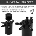 Load image into Gallery viewer, Universal Oil Catch Can Tank Reservoir 3 Port Breather Filter Baffled Aluminum