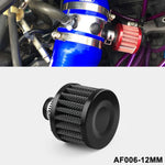 画像をギャラリービューアに読み込む, 12MM Oil Cold Air Intake Filter Breather Crank Case Turbo Vent Universal