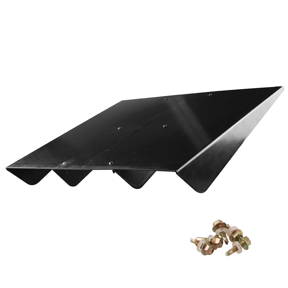 Universal Rear Bumper Diffuser Assembly Cover 22x20 in Unpainted - ABS Plastic