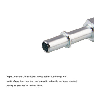 "640940 Russell -6 AN Male To 3/8"" SAE Quick Disconnect Male Fuel Fitting"