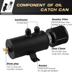 이미지를 갤러리 뷰어에 로드 , 10AN Oil Catch Can Tank Reservoir With Breather Filter Baffled Aluminium