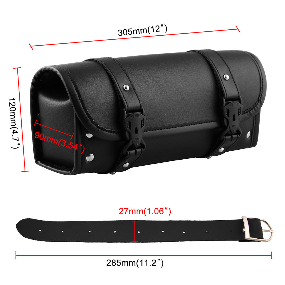 1PC Motorcycle Front Fork Black Bag Handlebar Saddlebags For Yamaha Honda Suzuki