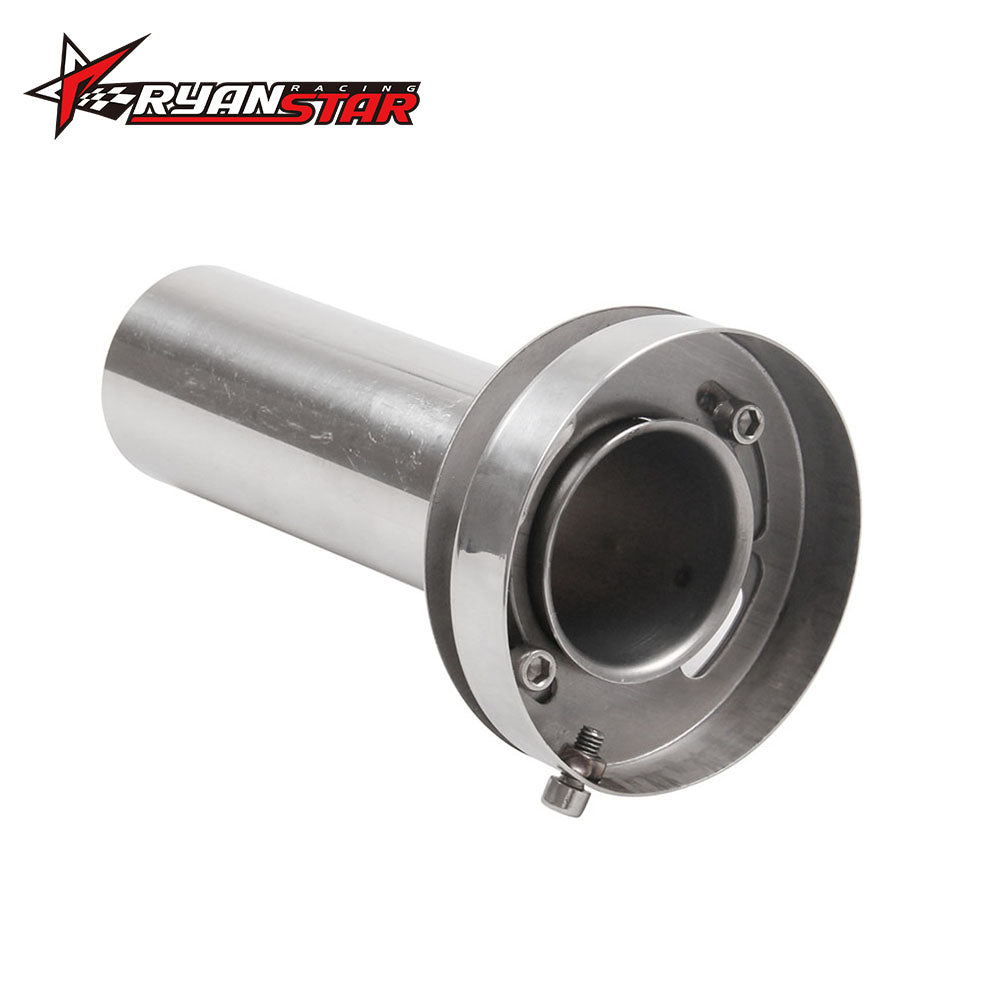 "4.5"" Adjustable Silencer Exhaust Muffler Adjustable Removable Silencer Universal"