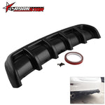 "Load image into Gallery viewer, 26""x5"" ABS Rear Shark 6 Fin Curved Bumper Lip Diffuser Kit Universal Black"