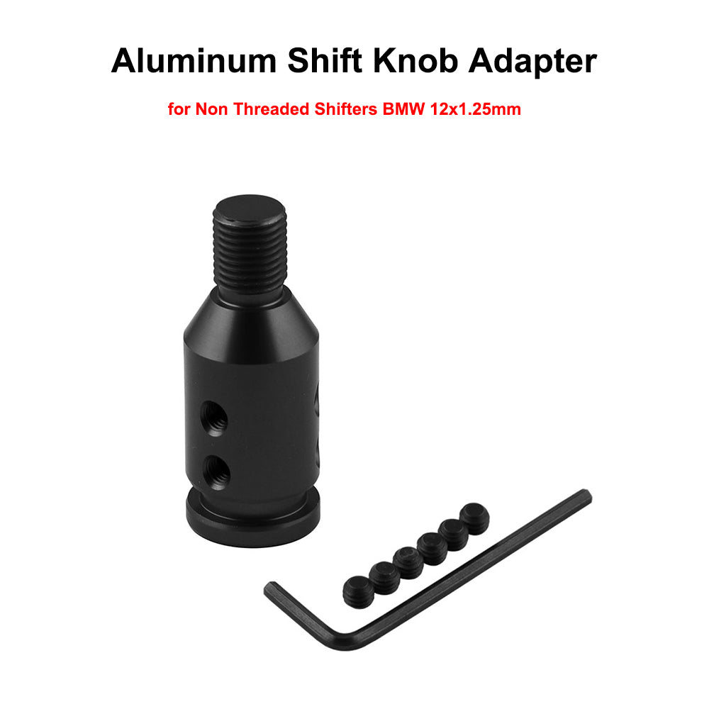 Shift Knob Adapter Shifters AnodizedAluminum 12x1.25MM For Non Threaded BMW Mini