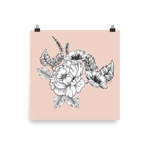 Open image in slideshow, Peony & Wildflowers - Ink Botanicals Collection