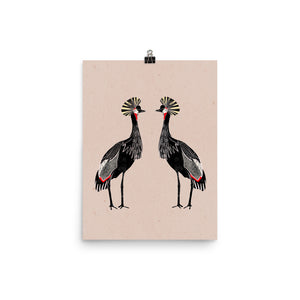Open image in slideshow, Two Cranes - Wall Art Print