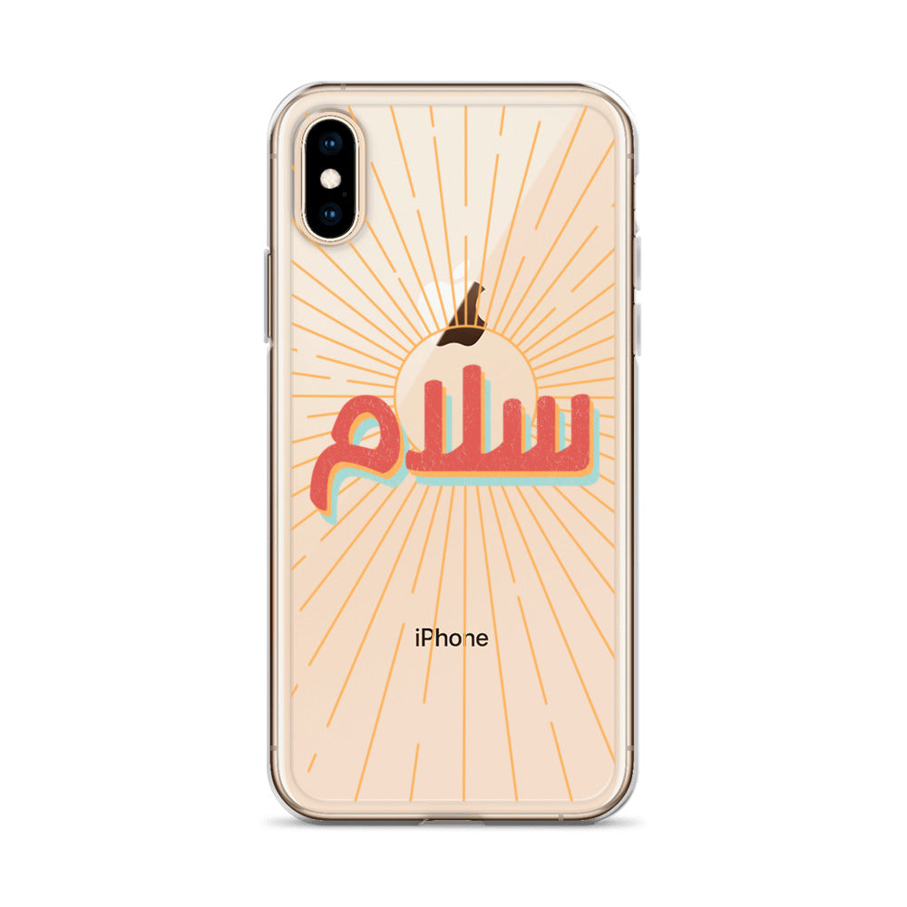 Retro Salaam iPhone Case (Clear Backing)