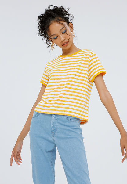 Crop Striped T-shirt