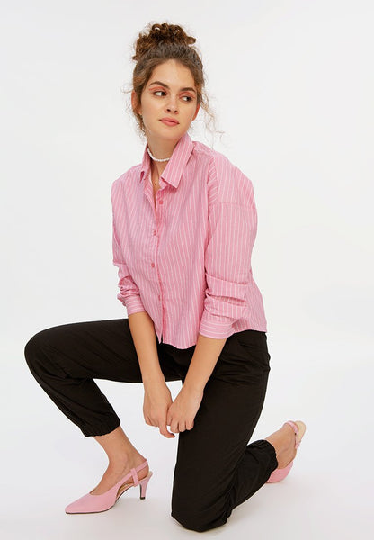 Crop Stripe Shirt