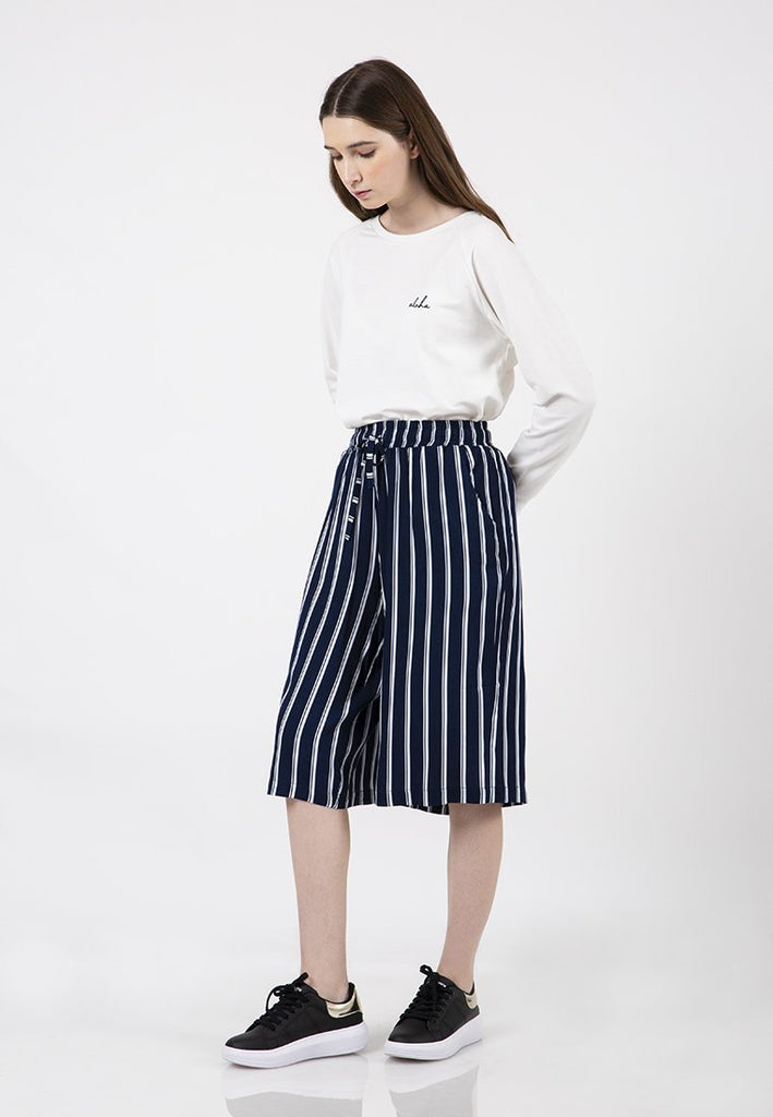 Stripes Cullote Pants