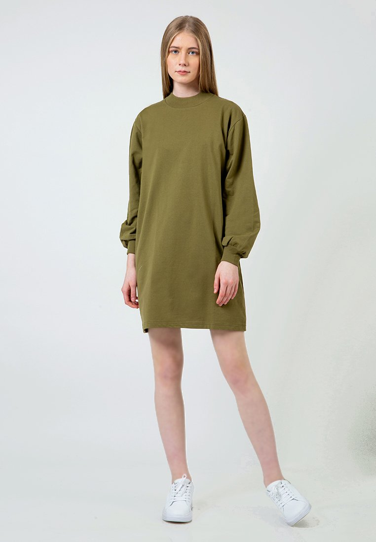 Olive Highneck Dress