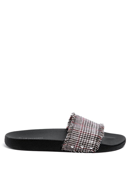 Brown Plaid Sandal