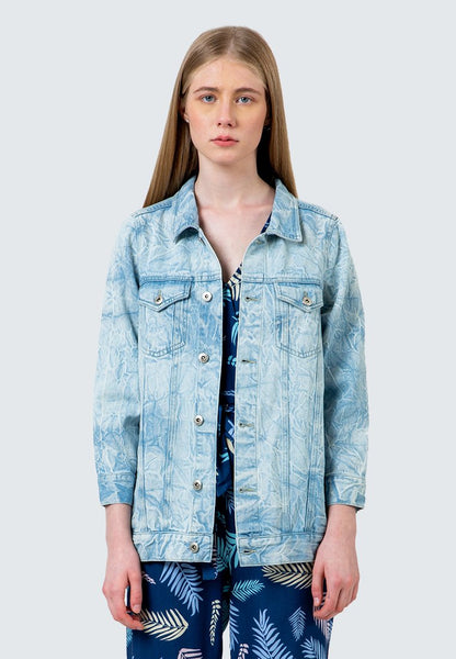 Acid washed Crinckle Denim Jacket